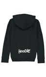 Hoodie - Zwarte Kinder Hoodie - Achterkant