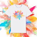 #LikeMe - Logo kleur bom - Wit T-shirt