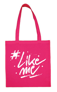 #LikeMe - Logo - Fuchsia Cotton Bag