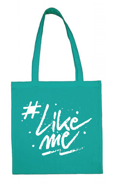 #LikeMe - Logo - Turquoise Cotton Bag