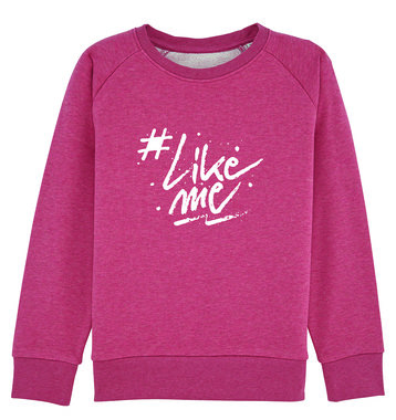 #LikeMe - Logo - Heather Cranberry Kinder Sweater