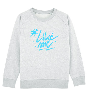 #LikeMe - Logo - Cream Heather Grey Kinder Sweater