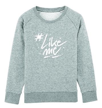 #LikeMe - Logo - Heather Grey Unisex Sweater
