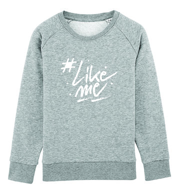 #LikeMe - Logo - Heather Grey Kinder Sweater