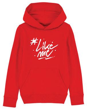 #LikeMe - Logo - Rode Kinder Hoodie