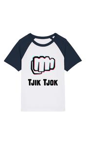 "Helden - Wit/Navy ""Tjik Tjok"" Kinder T-shirt"