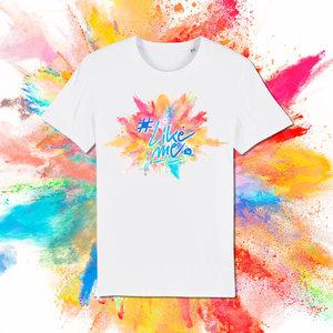 #LikeMe - Logo kleur bom - Wit Kinder T-shirt
